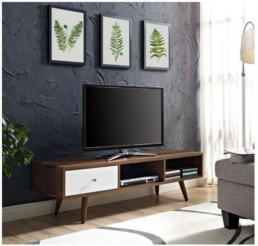 Modway Low TV Stand in Walnut