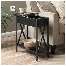 Convenience Concepts Tucson Electric Flip Top Table Black