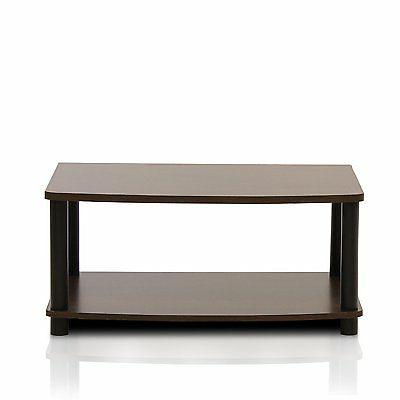 """Furinno 2-Tier Elevated TV for 24"""", Multiple Colors"""