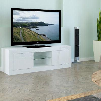 TV Cabinet Stand LED Drawers Home