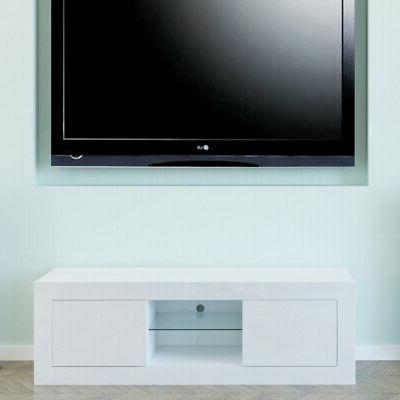 TV LED Drawers Wood Table Home