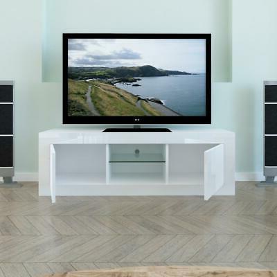 TV Cabinet LED Shelves 2 Drawers Home