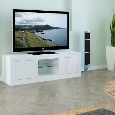TV Cabinet Stand LED Drawers Console Home