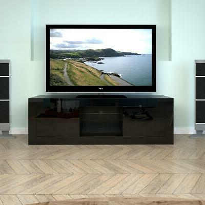TV Stand LED Drawers Wood Home