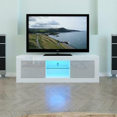 tv cabinet stand unit led lights shelves