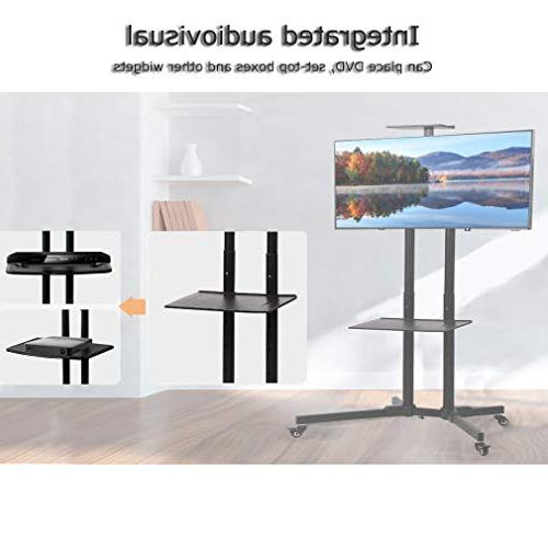 TV Cart TV Rolling Cart with Wheels LCD LED Plasma Screen Panel Bedroom Living Meeting Room 65""