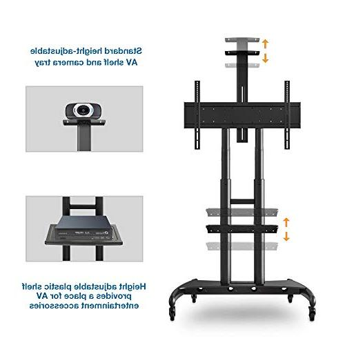 """North Bayou Mobile TV Cart TV Stand Wheels for 55"""" - 80"""" Inch OLED Flat Screens to AVA1800-70-1P"""