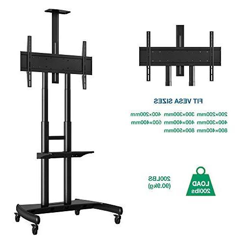 "North Cart TV Stand Wheels 80"" OLED Plasma Panel AVA1800-70-1P"