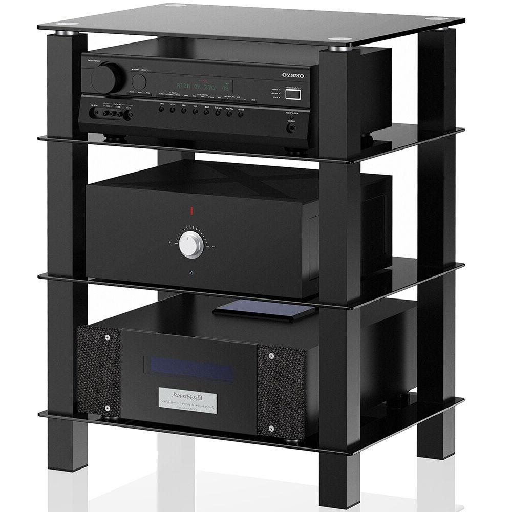 TV Center Offfice Stand Media DVD Shelves Storage