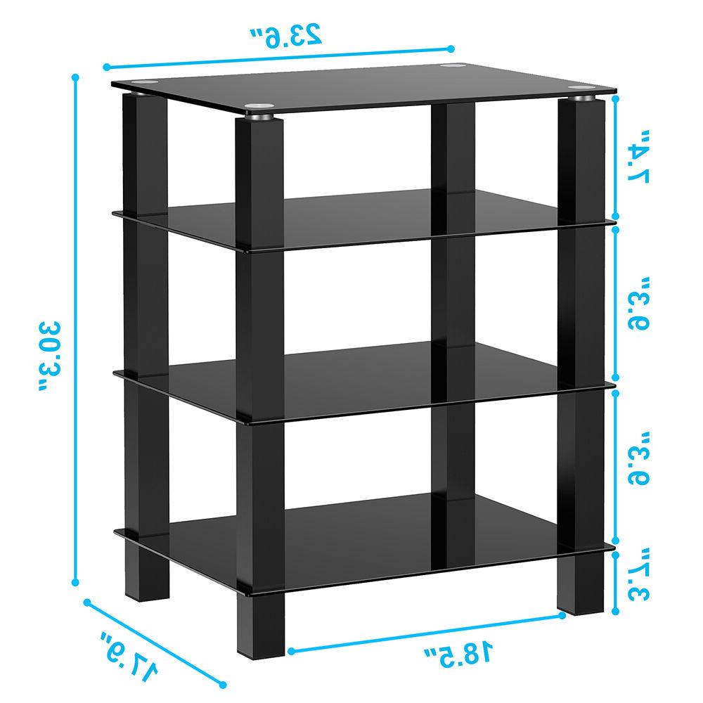 TV Entertainment Stand Shelves DVD Shelves