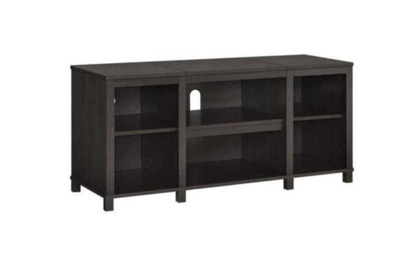TV Console Media Entertainment Brown Cabinet Storage