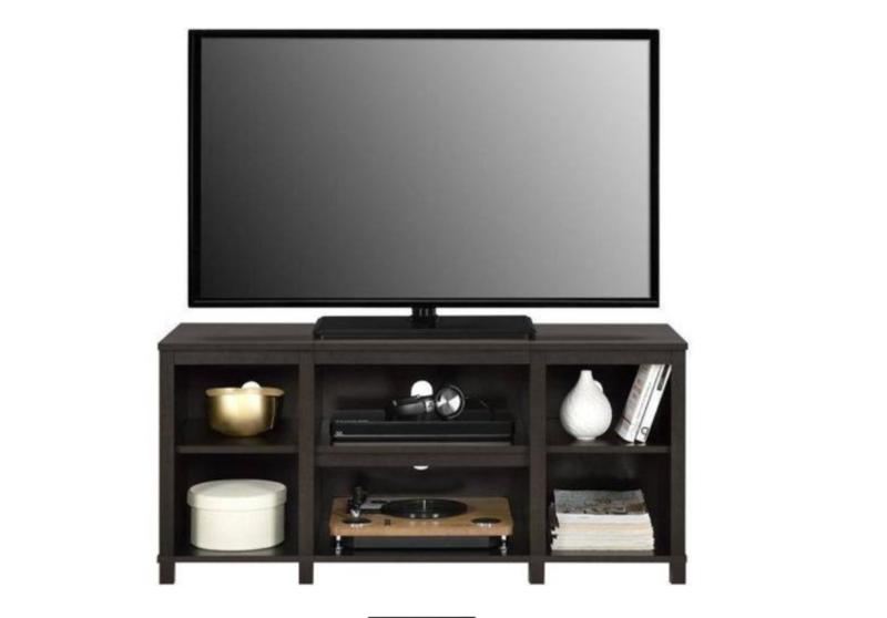 TV Console Brown Cabinet