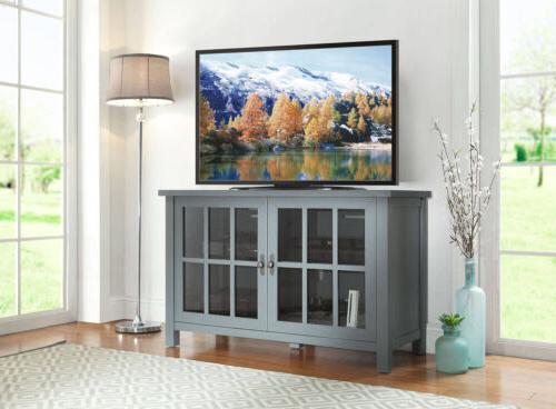 TV Console Media Entertainment Furniture Wood Flat
