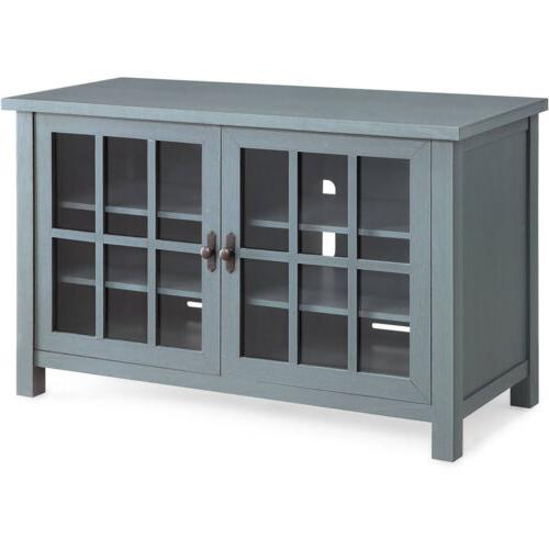 TV Stand Media Entertainment Furniture Wood Cabinet Flat