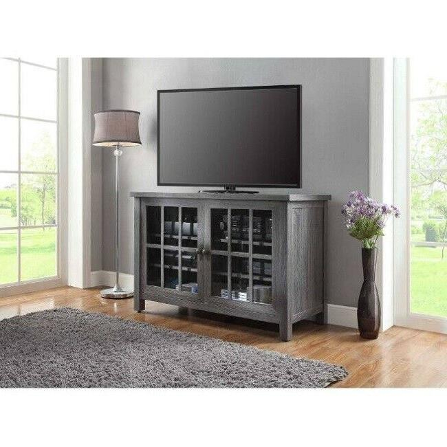 tv console stand shelves media