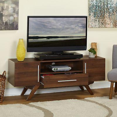 TV Entertainment Stand Brown Furniture Mid Century