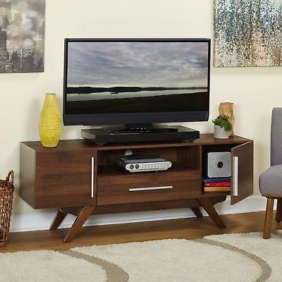 TV Brown Walnut Furniture Mid Home