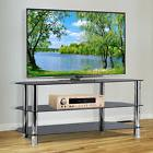 TV Mount Stand Glass Shelves Storage For AV Components Conso