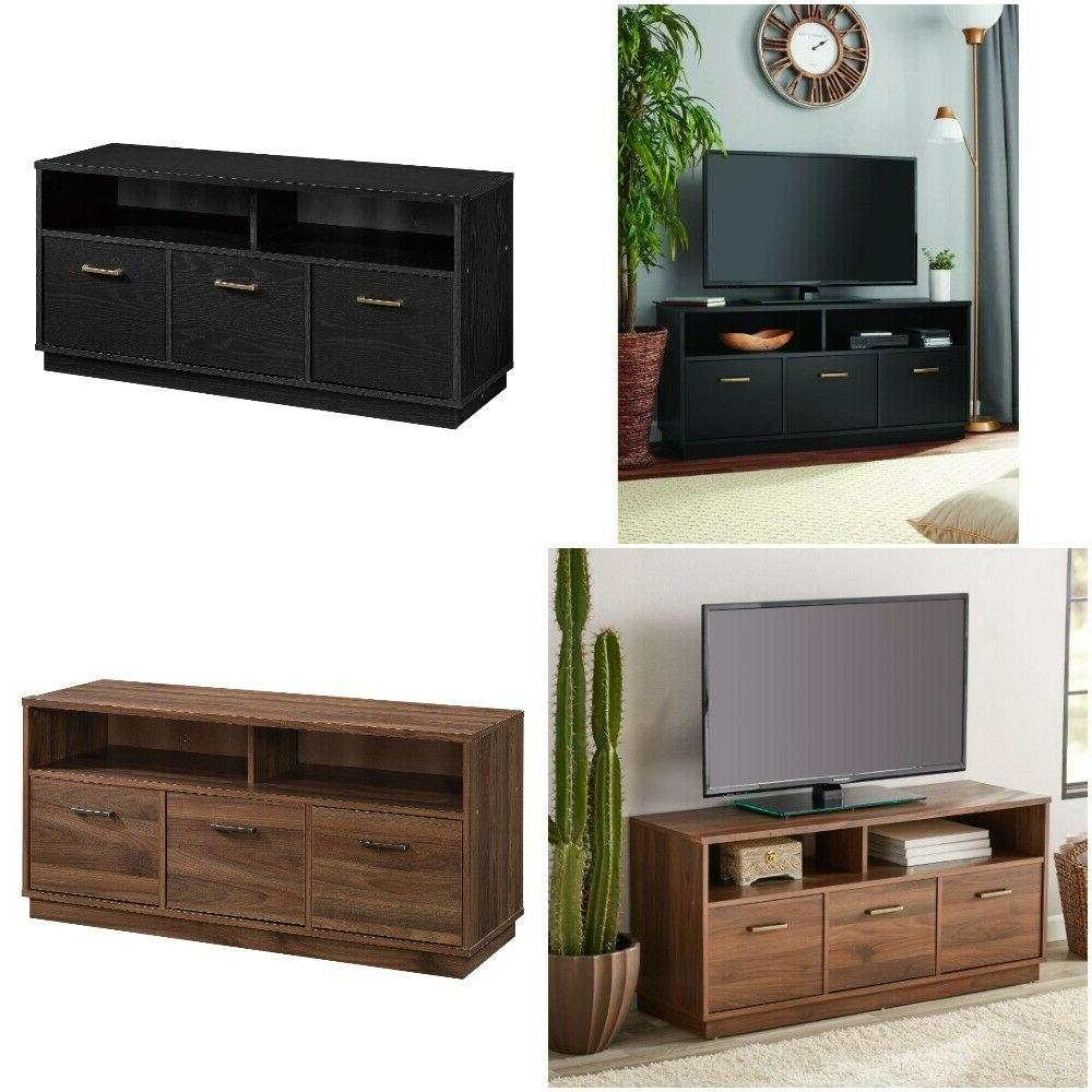 tv stand 3 door storage cabinet console