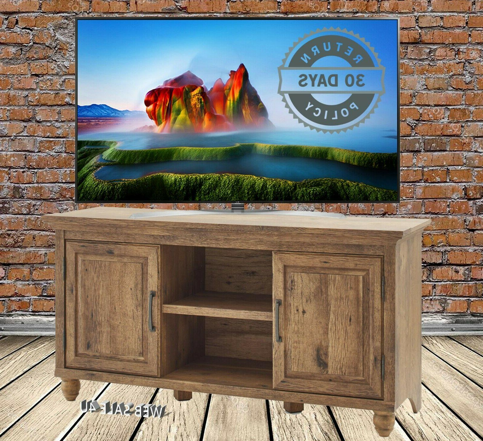 TV Stand 65 Rustic Media Entertainment Farmhouse Cabinet