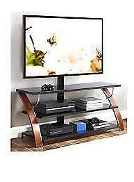 TV Stand Brown Cherry 3-in-1 Flat Panel Stand for TVs to 65