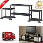 TV Stand Entertainment Center Black Storage Cabinet Media Co