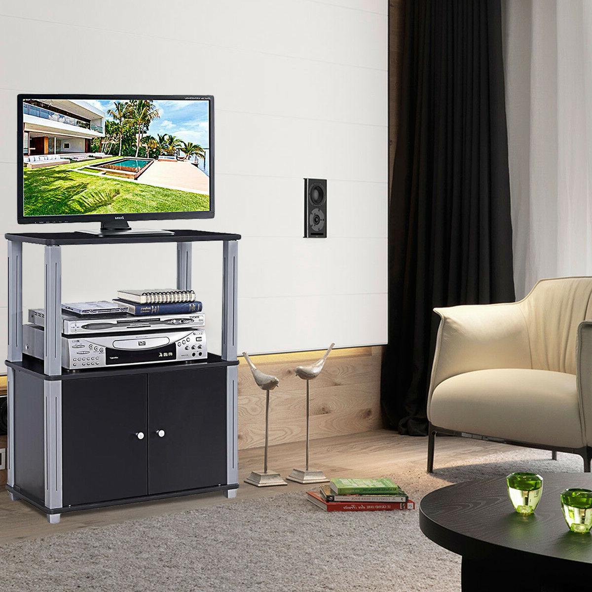 TV Multipurpose Shelf Display w/ Storage Cabinet