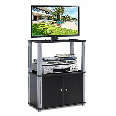 tv stand component console multipurpose shelf display