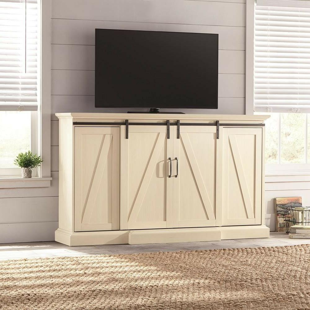 TV Stand Electric Heater Adjustable Flame Home Decor Shelf