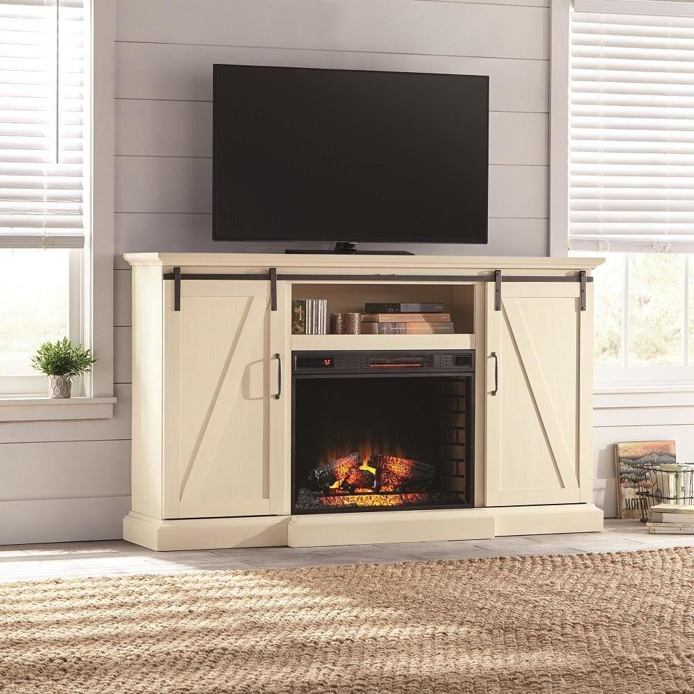 tv stand electric fireplace heater adjustable flame