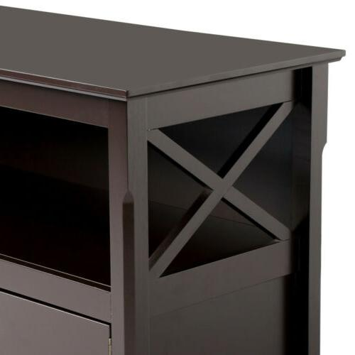X Shape Stand Base Storage Cabinet Home Media
