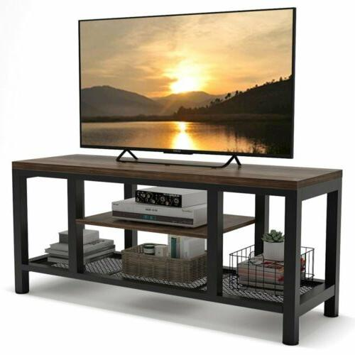 TV Stand Entertainment Center Rustic Media Console Table Sta