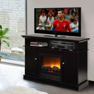 TV Fake Log Flame Heater Decor