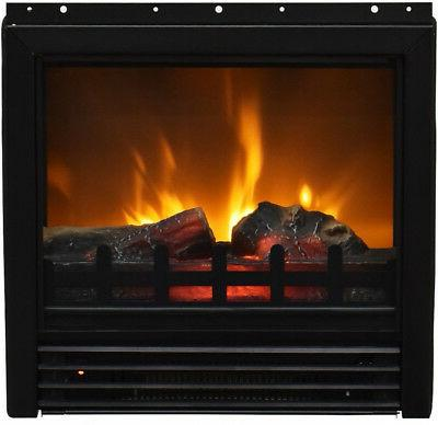 TV Stand Fake Log Flame Heater Living Decor