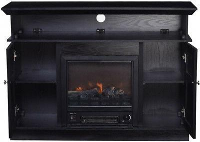 TV Log Flame Electric Space Heater Decor