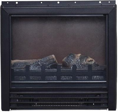 TV Stand Fireplace Log Heater Living Wood Decor