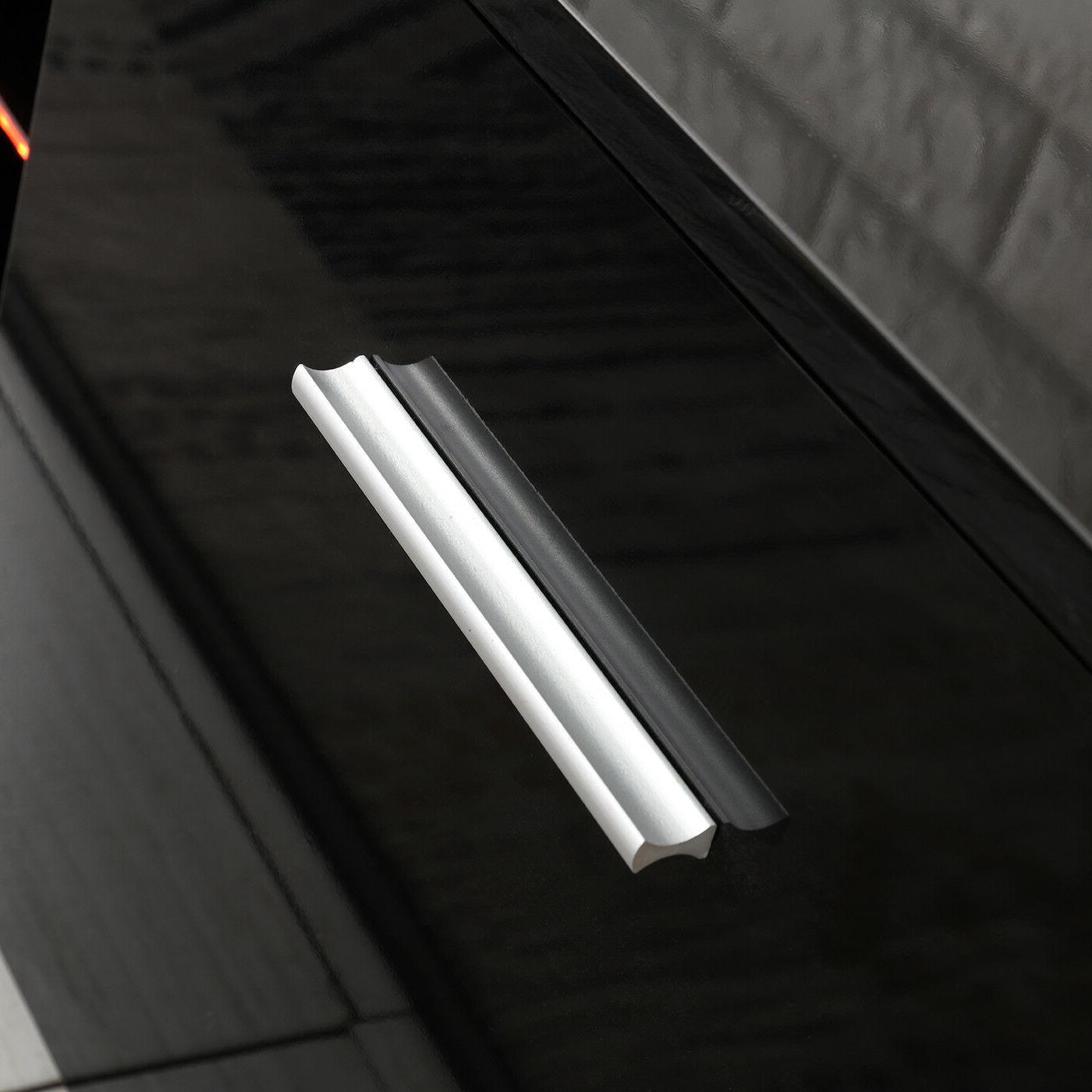 TV Black Unit LED Shelves Drawers Console
