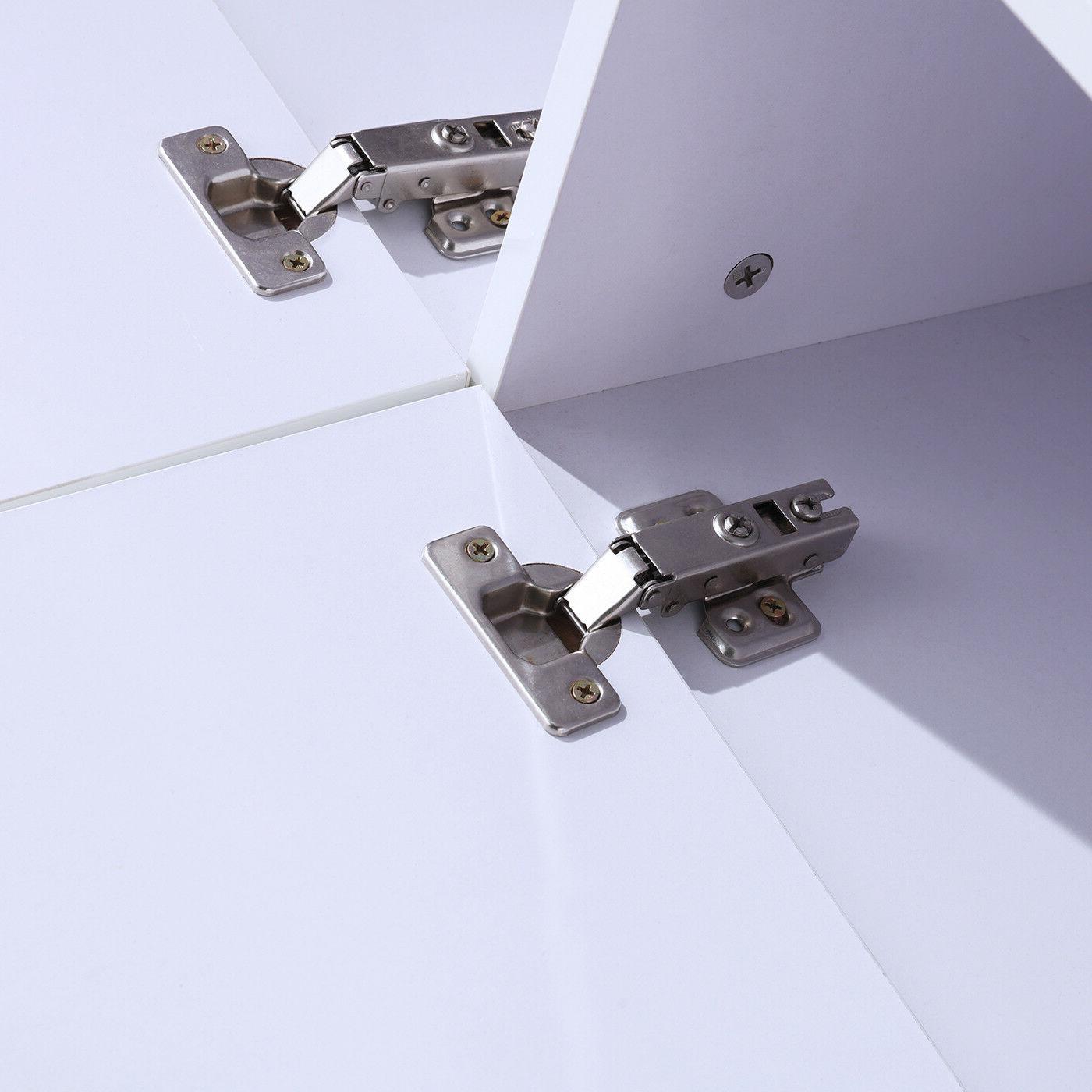 TV High White w/LED Shelves