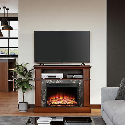 TV Media Storage Console Wood