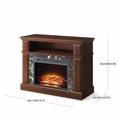"TV Stand Media Fireplace 50"" Electric Storage Wood"
