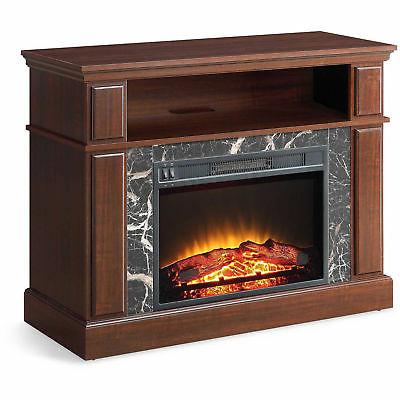 "TV Stand 50"" Heater Entertainment Storage Console Wood"