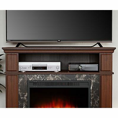 "TV Media Fireplace 50"" Storage Console Wood"