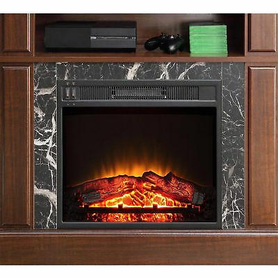 "TV Stand Media 50"" Electric Heater Storage Console Wood"
