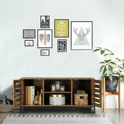 TV Stand Storage Entertainment Center w/2 Cabinet 2 Shelf