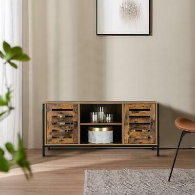 TV Stand Console Entertainment Center w/2 Doors Cabinet and 2 Shelf