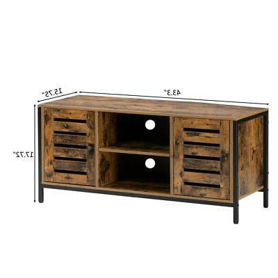 TV Stand Storage Entertainment Center Cabinet and Tier Shelf