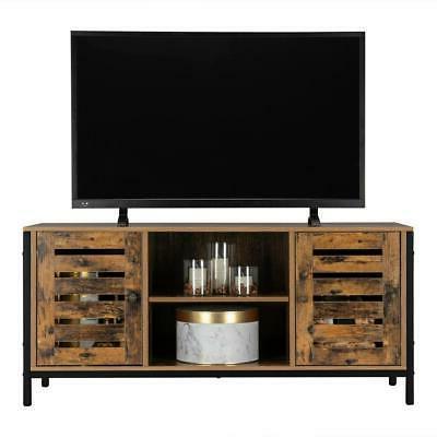 tv stand storage console entertainment center w