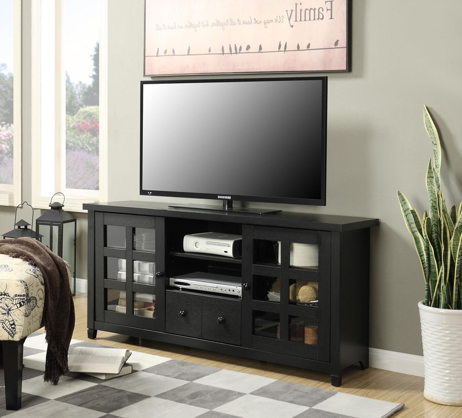 tv stand multimedia media storage console cabinet
