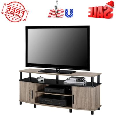 """TV Stand Oak Carson Sonoma for TVs up to 50"""" Living Room Mod"""