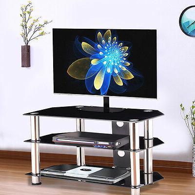 TV Rack Shelf Entertainment Livingroom Organizer Audio Storage